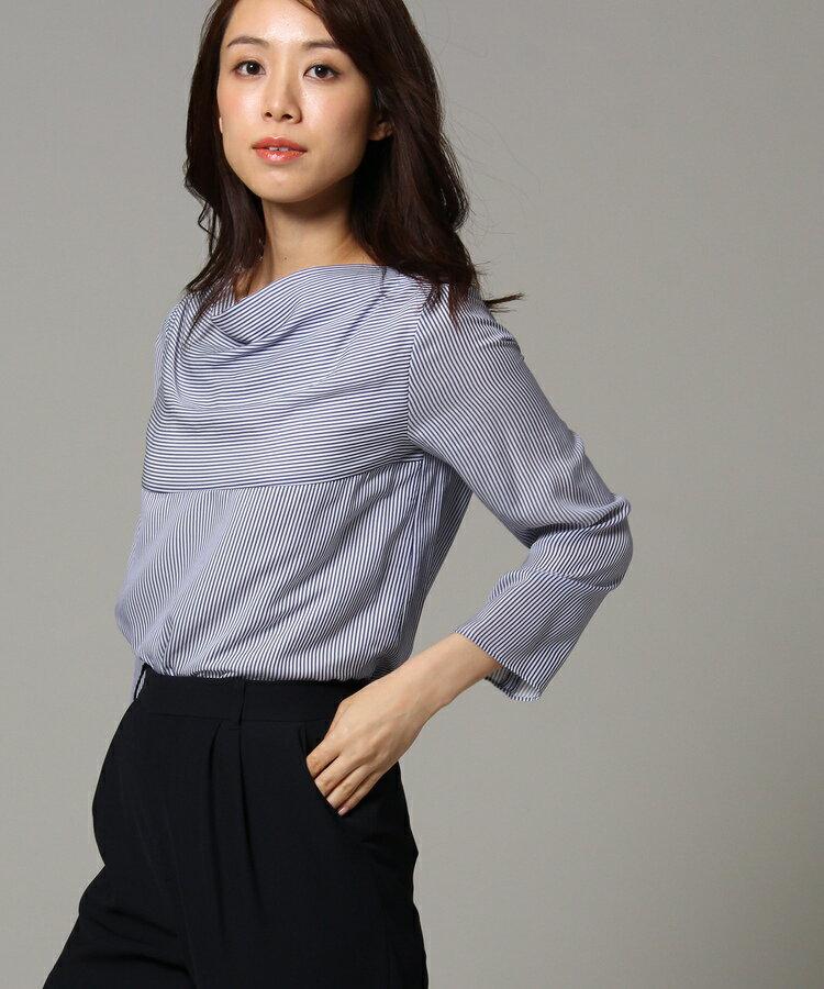UNTITLED(アンタイトル)[L]ドレープストライプシャツ