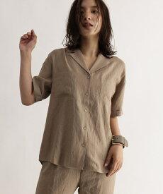 OZOC(オゾック)[洗える]レーヨン混開襟シャツ