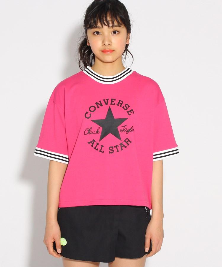 PINK-latte(ピンク ラテ)【CONVERSE】別注 ラインリブ Tシャツ