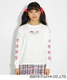 PINK-latte(ピンク ラテ)★ニコラ掲載★【ペコちゃん】ロンT