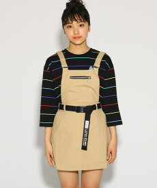 PINK-latte(ピンク ラテ)★ニコラ掲載★ベルト付ジャンパースカート