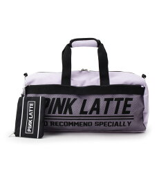PINK-latte(ピンク ラテ)ポーチ付きロールボストン