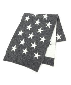 Couture Brooch(クチュールブローチ)CASSELINI スター柄リバーシブル ニットマフラー
