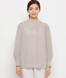 Modify(モディファイ)レールストライプスタンドネックシャツ