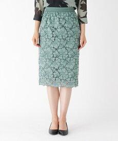 Modify(モディファイ)リリーフラワーミモレレーススカート