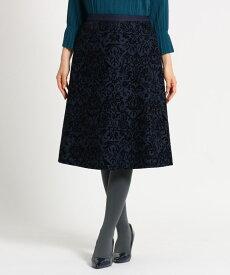 SunaUna(スーナウーナ)【洗える】フロッキーフレアミモレスカート