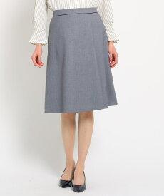 SunaUna(スーナウーナ)【洗える】シャンブレーストレッチ ミディ丈スカート