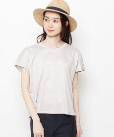 Airpapel(エアパペル)【洗える】ロゴ刺しゅうTシャツ