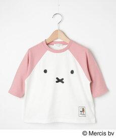 3can4on(Kids)(サンカンシオン(キッズ))【90-120cm】【ミッフィー】ラグランTシャツ
