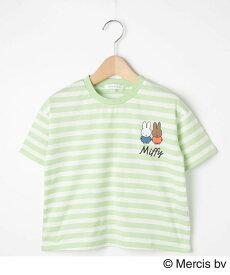 3can4on(Kids)(サンカンシオン(キッズ))【90-120cm】【ミッフィー】ボーダーTシャツ
