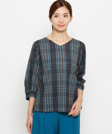 smart pink(スマートピンク)【洗える】ストライプシャドーチェックシャツ