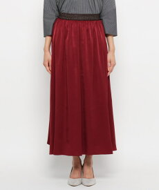 smart pink(スマートピンク)【洗える】ヌバッキー微起毛ロングスカート