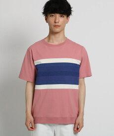 THE SHOP TK(Men)(ザ ショップ ティーケー(メンズ))テクニカルボーダーTシャツ