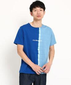 THE SHOP TK(Men)(ザ ショップ ティーケー(メンズ))縦切替タイダイTシャツ