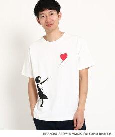THE SHOP TK(Men)(ザ ショップ ティーケー(メンズ))グラフィック半袖Tシャツ バンクシー
