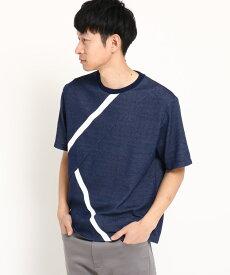THE SHOP TK(Men)(ザ ショップ ティーケー(メンズ))【接触冷感】ラインTシャツ