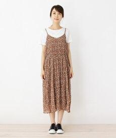 SHOO・LA・RUE/DRESKIP(シューラルー/ドレスキップ)Tシャツ×フラワーしわキャミワンピースSET