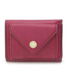 pink adobe(ピンクアドベ)ロゴ刻印カシメメール型三つ折り財布