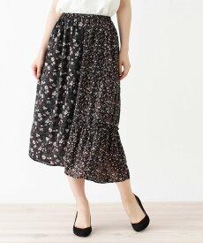 grove(グローブ)花柄パターンMIXギャザースカート