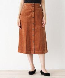 grove(グローブ)太畝コーデュロイ前ボタンスカート