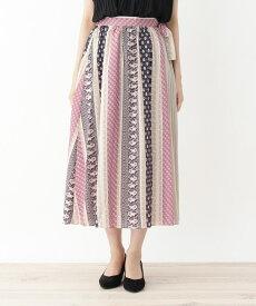 grove(グローブ)プリーツラップ南仏風プリントスカート