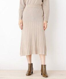 grove(グローブ)【洗える/アンチピリング加工】毛玉軽減プリーツ風ニットスカート