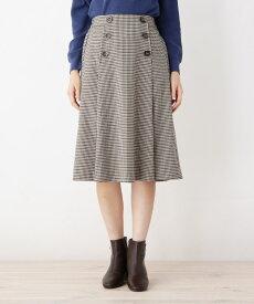 grove(グローブ)【WEB限定サイズあり】フロントボタンタックAラインスカート