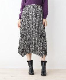 grove(グローブ)小花柄イレギュラーヘムプリーツスカート