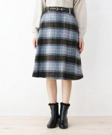grove(グローブ)ビットベルト付きAラインスカート