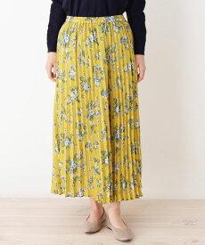 grove(グローブ)【WEB限定サイズあり】花柄プリーツロングスカート