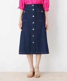 grove(グローブ)フロントボタンラインデニムスカート