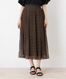 grove(グローブ)楊柳ボイルタッチミモレスカート