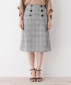 grove(グローブ)前釦チェック柄Aラインスカート