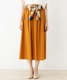 grove(グローブ)スカーフベルト付きギャザースカート