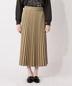 grove(グローブ)【S-LL】フェイクレザープリーツロングスカート