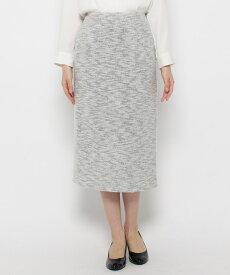 grove(グローブ)【S-3Lまで/ママスーツ/入卒】ニットツイードタイトスカート