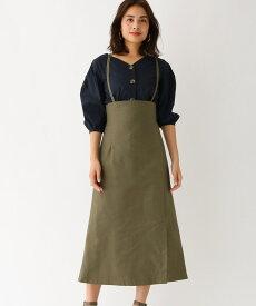 aquagirl/l'epicerie(アクアガール/レピスリー)2WAYサス付きハイウエストスカート