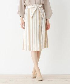 index(インデックス)【洗濯機洗いOK】ミモレボタンタイトスカート