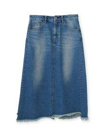 JET(ジェット)【洗える】カットオフ ロングデニムスカート