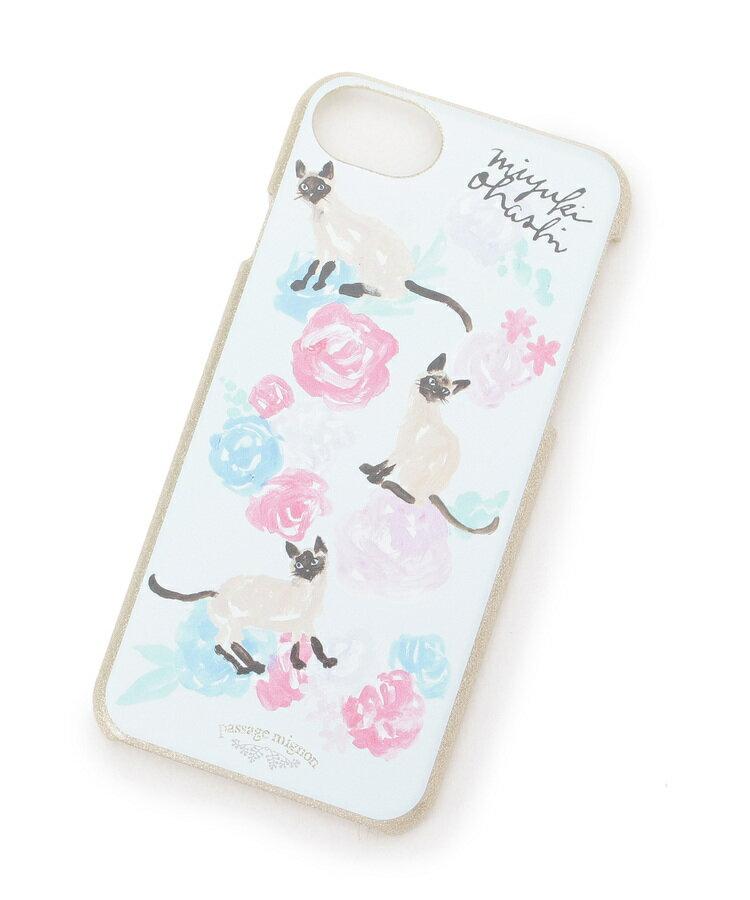 passage mignon(パサージュ ミニョン)【miyuki ohashiコラボ】花&シャム猫柄iPhoneケース