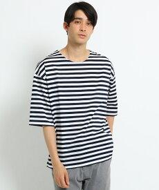OPAQUE.CLIP(オペークドットクリップ)◆BIGボーダーTシャツ