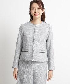 Dessin(Ladies)(デッサン(レディース))【ママスーツ/入学式 スーツ/卒業式 スーツ S~Lサイズあり】ツイードノーカラージャケット