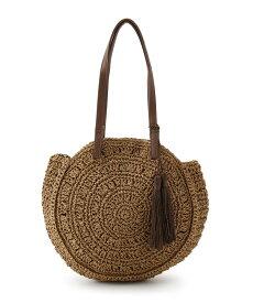 SHOO・LA・RUE/DRESKIP(シューラルー/ドレスキップ)タッセル編み柄サークルトートバッグ