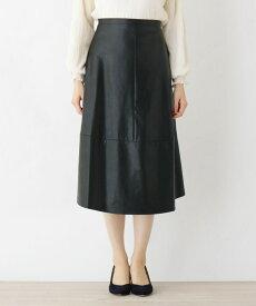 grove(グローブ)FURRY RATE デザイン切替フェイクレザースカート