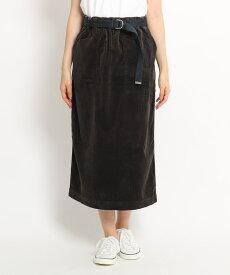 Dessin(Ladies)(デッサン(レディース))【洗える 日本製】DANTON ベルト付きゴムウエストコーデュロイタイトスカート