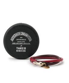 TAKEO KIKUCHI(タケオキクチ)Cramp2重巻きレザーブレスレッド
