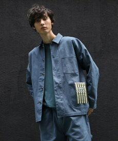 THE SHOP TK(Men)(ザ ショップ ティーケー(メンズ))【WEB限定】ビックシルエットシェフカバーオール/セットアップ/ユニセックスでオススメ!!