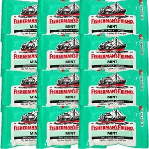 フィッシャーマンズフレンド ストロング ミント 緑 12個入 送料無料 ミントタブレット イギリス 酔い止め 眠気覚まし
