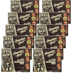 ハワイアンホスト マカダミアナッツ チョコレート 4oz 8粒 ×10箱セット HawaiianHost ハワイアンホースト マカデミアナッツ 海外 輸入菓子 送料無料 クール便 ハワイ お土産