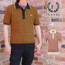 【送料無料】フレッドペリー FRED PERRY ポロシャツ メンズ ツーカラー テクスチャニットシャツ 襟付き ウェア カジュアル 半袖 トップ…